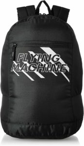 Amazon - Buy Flying Machine Fabric Black Laptop Backpack