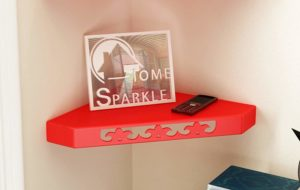 Amazon- Buy Home Sparkle Sh824 Wall Shelf (Lacquer Finish, Red) at Rs 214