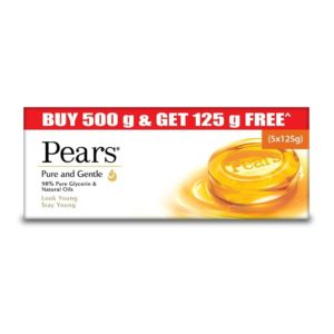 Amazon - Buy Pears Pure and Gentle Bathing Bar, 125g (Buy 4 Get 1 Free) at Rs. 200