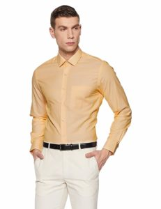 Amazon- Buy Peter England Men's Plain Slim Fit Formal Shirt at Rs 426