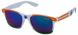 Amazon - Buy Silver Kartz Indian Patriotic UV Protected Wayfarer Unisex Sunglasses at Rs 89