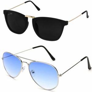 Amazon- Buy Silver Kartz Premium look exclusive sunglasses combo at Rs 169