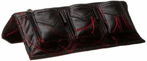 Amazon - Buy Smoke Car Accessories Embroidered 3 Pocket Car Arm Rest with Mobile Holder (Black and Red) at Rs 307 only