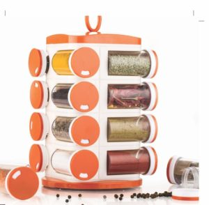 Amazon - Buy Tosmy 16 Jar Revolving Masala  Spice Rack , Colour may Vary  at Rs 420