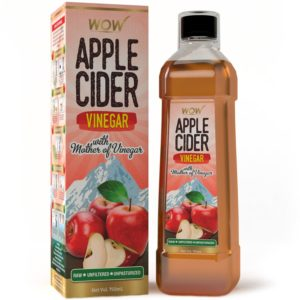 Amazon - Buy WOW Raw Apple Cider Vinegar - 750 ml - with strand of mother - Not from concentrate  at Rs 259