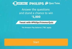 Amazon Philips Trimmer Quiz Answers - Answer and Win Rs 5000