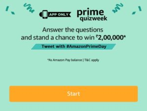 Amazon Prime Quiz Week (Quiz 5) - Win