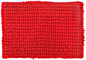 "Amazon- Buy Skipper Shaggy Solid Polyester Bath Mat - 24""x16"", Red at Rs 116"