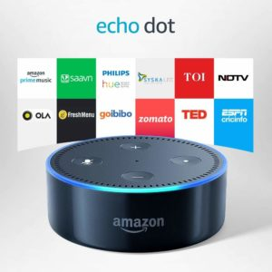 Amazon - buy Echo Dot - Voice control your music, Make calls, Get news, weather & more - Black at Rs 2449