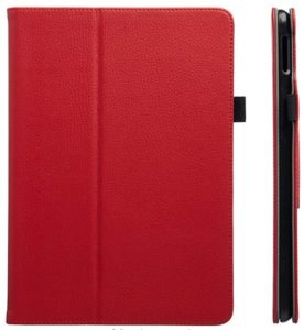 "AmazonBasics iPad 2017 PU Leather Case Auto Wake/Sleep Cover, Red, 9.7"" at rs.300"