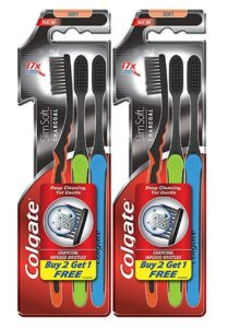 Colgate Slim Soft Charcoal Toothbrush (Buy 2 Get 1) at rs.106