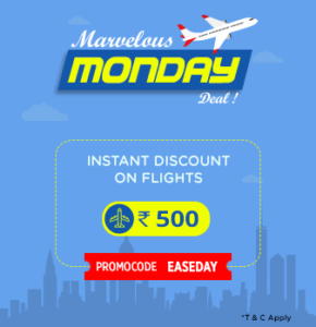 Easymytrip - Rs 500 off on Flight Bookings of Rs 2500