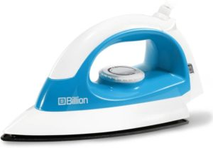 Flipkart - Buy Billion 1000 W Non-stick Compact XR127 Dry Iron  (White and Sky Blue)at Rs 349