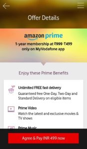 Get Amazon Prime Membership only for 499