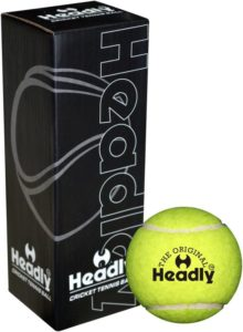 Headly Heavy Cricket Tennis Ball (Pack of 3, Yellow)