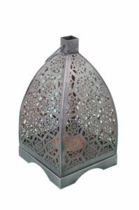 Moroccan Nickle & Copper Metal Hanging Candle Lantern