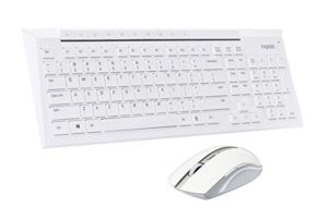 Mactrem Rapoo White 8200P 5.8GHz Wireless Multimedia Keyboard Mouse Combo at rs.899