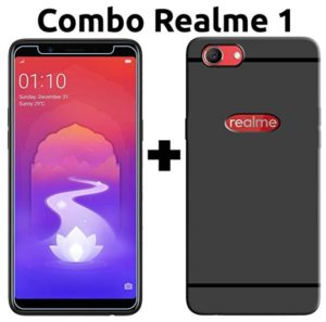 Oppo Realme 1 Cover & Tempered Glass (Combo Pack) by Popio at rs.97