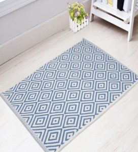 Pepperfry Geometric Pattern Cotton 3 x 2 feet Dhurrie