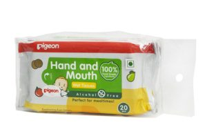 Pigeon Hand and Mounth Wipes 2 IN 1 (20 Count)
