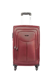 Safari Polyester 64.5 cms Red Softsided Suitcase