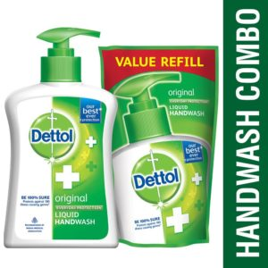 (Steal) Amazon Pantry - Buy Dettol Original Liquid Handwash - 200 ml with Free Liquid Handwash - 175 ml (Any Variant) at Rs. 49