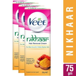 Amazon - Buy Veet Nikhaar Hair Removal Cream for All Skin Types - 25 g (Pack of 3) at Rs. 116