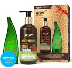 WOW Apple Cider Vinegar Shampoo with WOW 99% Pure Aloe Vera Gel Combo Kit at rs.399