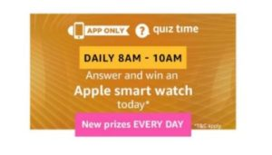 amazon quiz apple smart watch
