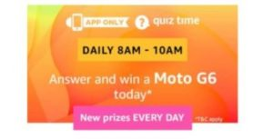 amazon quiz moto g6
