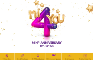 mi 4th aniversary sale