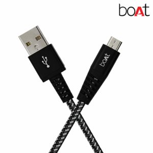 Amazon Boat Rugged v3 Extra Tough Unbreakable Braided Micro USB Cable 1.5 Meter