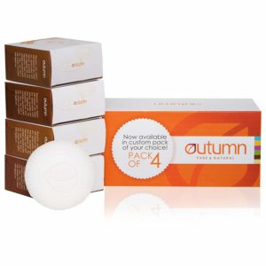 Amazon - Buy Autumn Almond Milk Bathing Bar - Pack of 4 (Buy 3 Get 1 Free) at Rs. 209