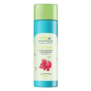 Amazon - Buy Biotique Bio Berry Sensitive Mommy and Baby Bubble Bath, 190 ml at Rs. 90