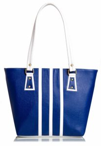 Amazon- Buy Mammon Women's Handbag (Blue White ,3 Stripbw) at Rs 212