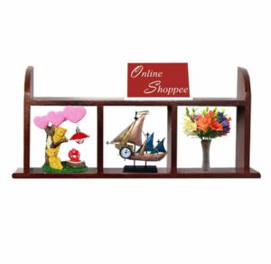 Amazon- Buy Onlineshoppee Wooden Wall Shelves/Rack Size (LxBxH-18x5x9.5) inch at Rs 577