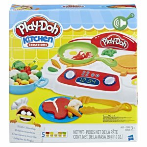 Amazon- Buy Playdoh Kitchen Creations Sizzling' Stovetop, Multi Color at Rs 849