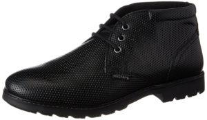 Amazon- Buy Red Tape Men's Black Leather Boots - 8 UK/India (42 EU) at Rs 799