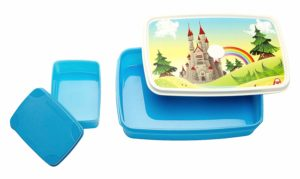Amazon- Buy Signoraware Castle Plastic Lunch Box Set, 2-Pieces, Blue at Rs 155