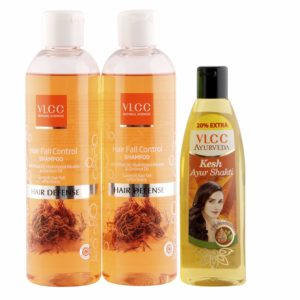 Amazon- Buy VLCC Hair Fall Control Shampoo (Buy 1 Get 1) and Ayurveda Hair Oil Combo at Rs 212