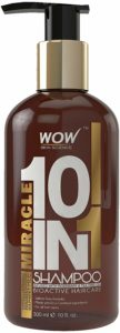 Amazon- Buy WOW Miracle 10 in 1 No Sulphate& Parabens Shampoo, 300mL at Rs 283