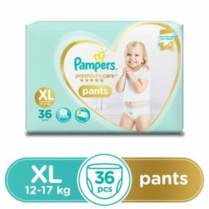 Amazon Pampers Premium Care Pants Diapers, X-Large, 36 Count