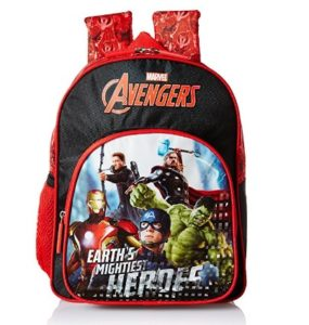 Avengers Earth's Mightiest Heroes Red & Black School Bag at rs.271
