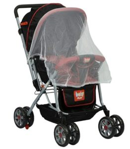 Babymate Hummingbird Strollers with Mamma Bag- 211 (Red and Black) at rs.2396