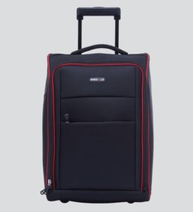 Bags R Us Polyester Black Cabin Trolley Bag ,36 Litres