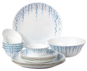 Cello Imperial Sky Fall Opalware Dinner Set, 19 Pieces at rs.1199