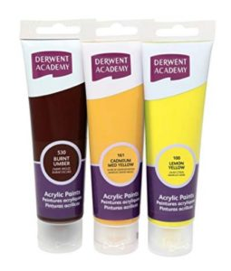 Derwent Academy Acrylic Paints Burnt Umber Large 100ml at rs.102