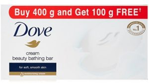 Dove Cream Beauty Bathing Bar, 100g (Buy 4 Get 1 Free) at rs.120