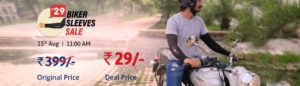 Droom – Get Droom Biker Sleeves Worth Rs. 399 at Rs. 29 only