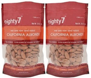 Eighty7 California Almonds - Pack of 2(250 gms Each), 500g